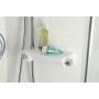 termostaatti sadesuihku Liam, kromi/valkoinen, säädettävä korkeus 30 cm