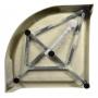 suihkunurkan kaareva akryyliallas Interia BTTR90, 900x900x150 mm