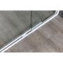 suihkunurkka Interia Amico, 1040-1220x800x1850 mm, valkoinen profiili, karkaistu turvalasi, säädettävä leveys