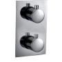 termostaatti upotettava suihkuhana Kimura, kromi, 3 veden ulostuloa, metalliset kädensijat