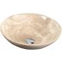 kiviallas Interia Blok 1, traverttiini, kiiltävä beige, 400 X 400 X 120 mm