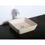 kiviallas Interia Blok, pöytätasolle, matta beige, 400 X 400 X 100 mm