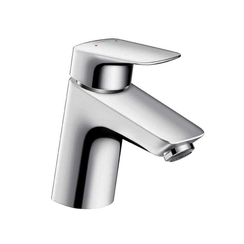 Hansgrohe Logis single lever basin mixer 70 with plastic pop-up waste set