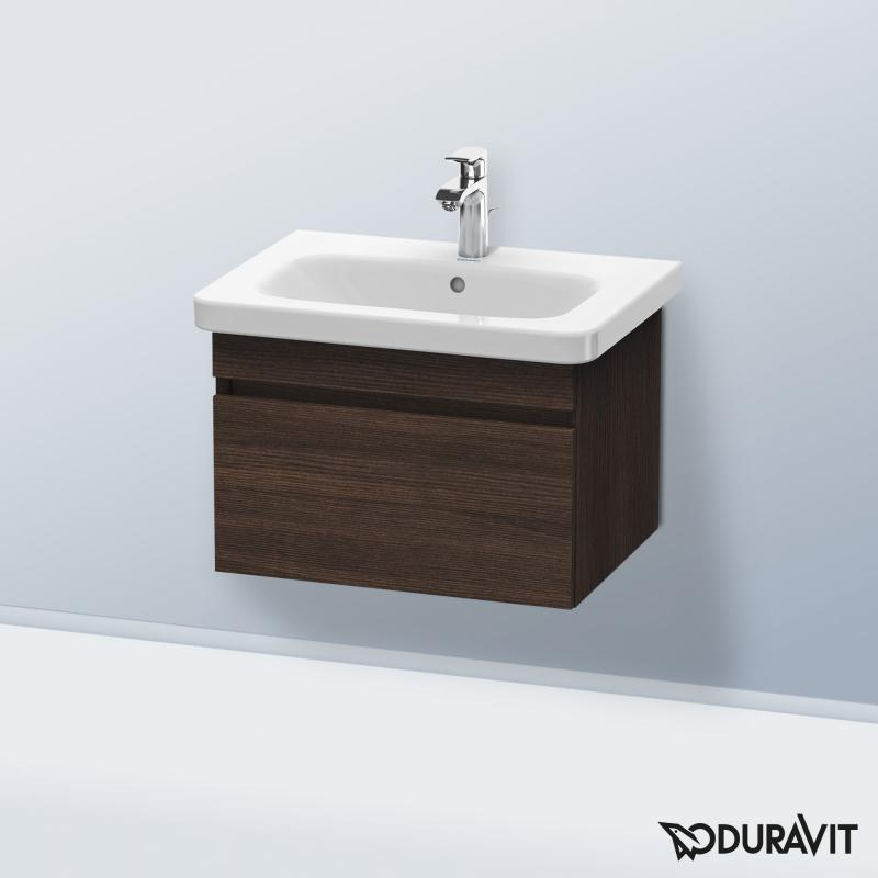 Duravit DuraStyle washbasin incl. vanity unit with 1 pull-out compartment dark chestnut, with 1 tap hole
