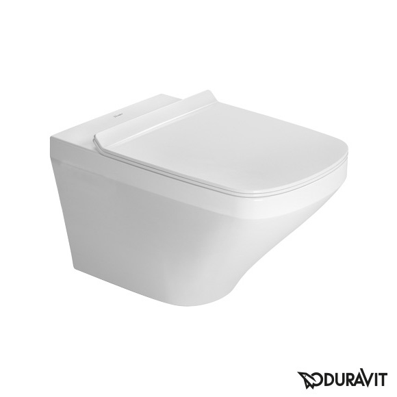 Duravit DuraStyle wall-mounted, washdown, rimless toilet set with SoftClose seat & concealed fittings
