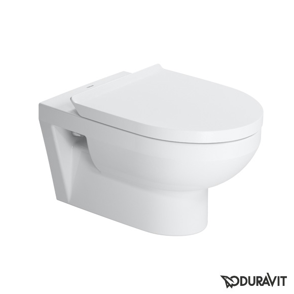 Duravit DuraStyle Basic wall-mounted, washdown, rimless toilet set w. soft-close seat & Durafix