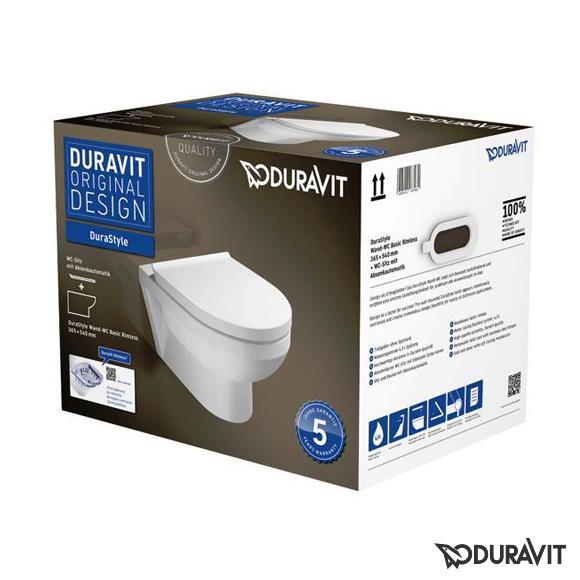 seina wc pott Duravit Durastyle Basic rimfree + aeglaselt sulguv prill-laud