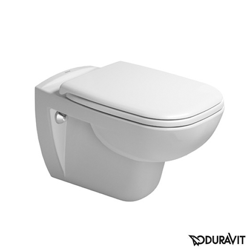 Duravit D-Code wall-mounted, washdown toilet white
