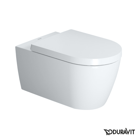 Duravit ME by Starck wall-mounted, washdown, rimless toilet with soft close seat