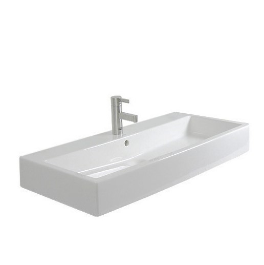 Duravit Vero washbasin white 700x470 mm, with 1 tap hole, ungrounded, with overflow