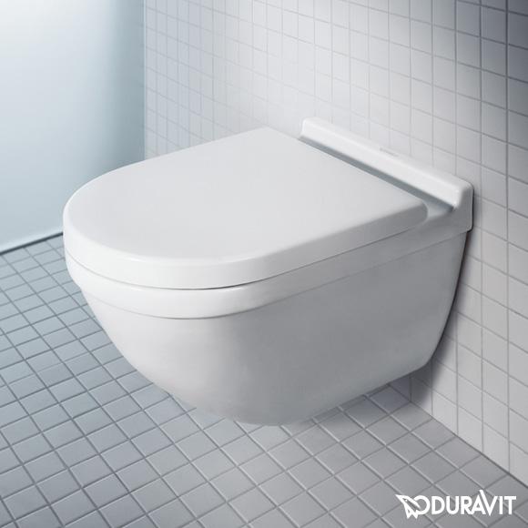 seina wc pott Duravit Starck 3 rimfree + aeglaselt sulguv prill-laud