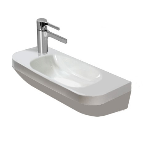Duravit DuraStyle hand washbasin white, with 1 tap hole left