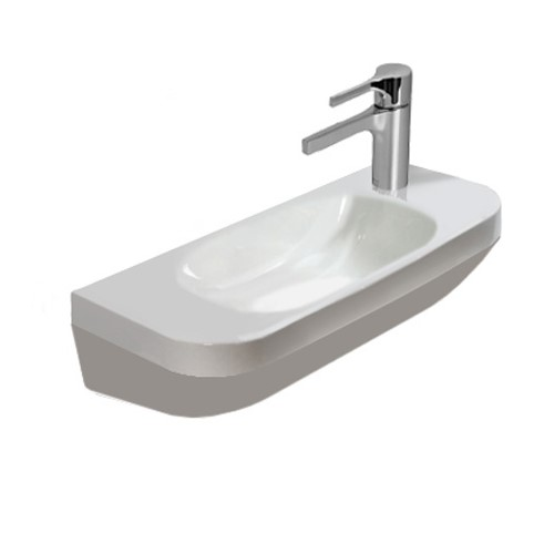 Duravit DuraStyle hand washbasin white, with 1 tap hole right