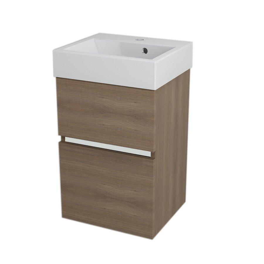 LARGO Basin Cabinet 41x60x35cm, Walnut