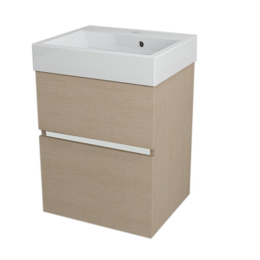 LARGO Basin Cabinet 49x60x41cm, Oak Venice