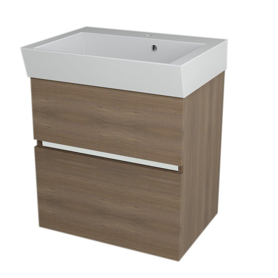 LARGO Basin Cabinet 59x60x41cm, Walnut