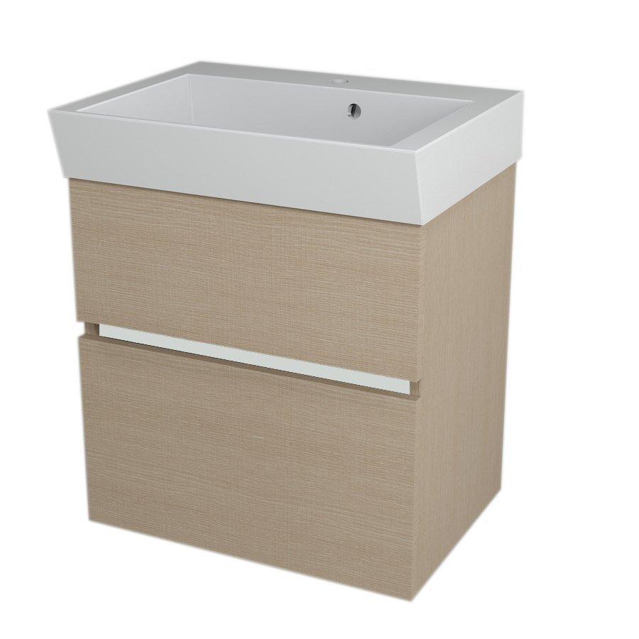 LARGO Basin Cabinet 59x60x41cm, Oak Venice