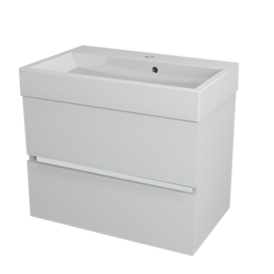LARGO Basin Cabinet 69x50x41cm, white