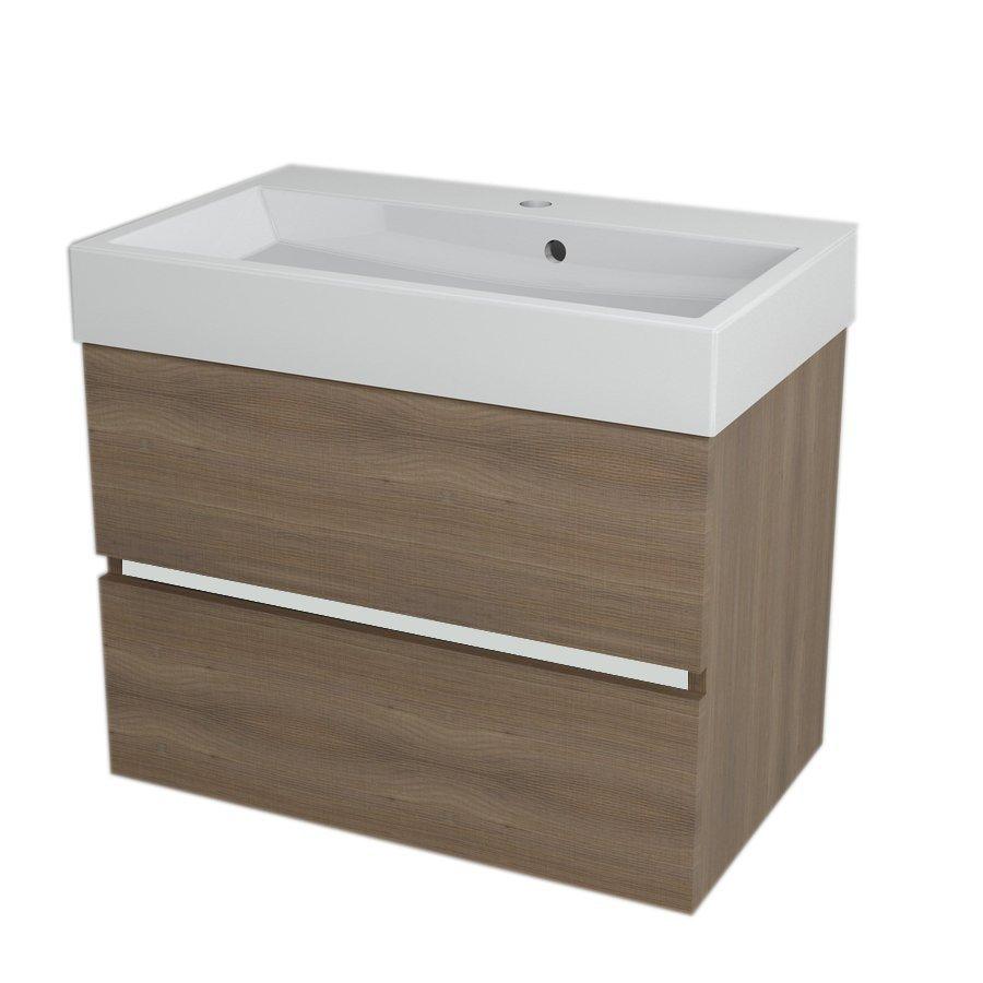 LARGO Basin Cabinet 69x50x41cm, Walnut