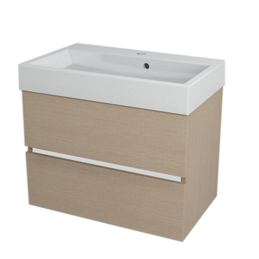 LARGO Basin Cabinet 69x50x41cm, Oak Venice