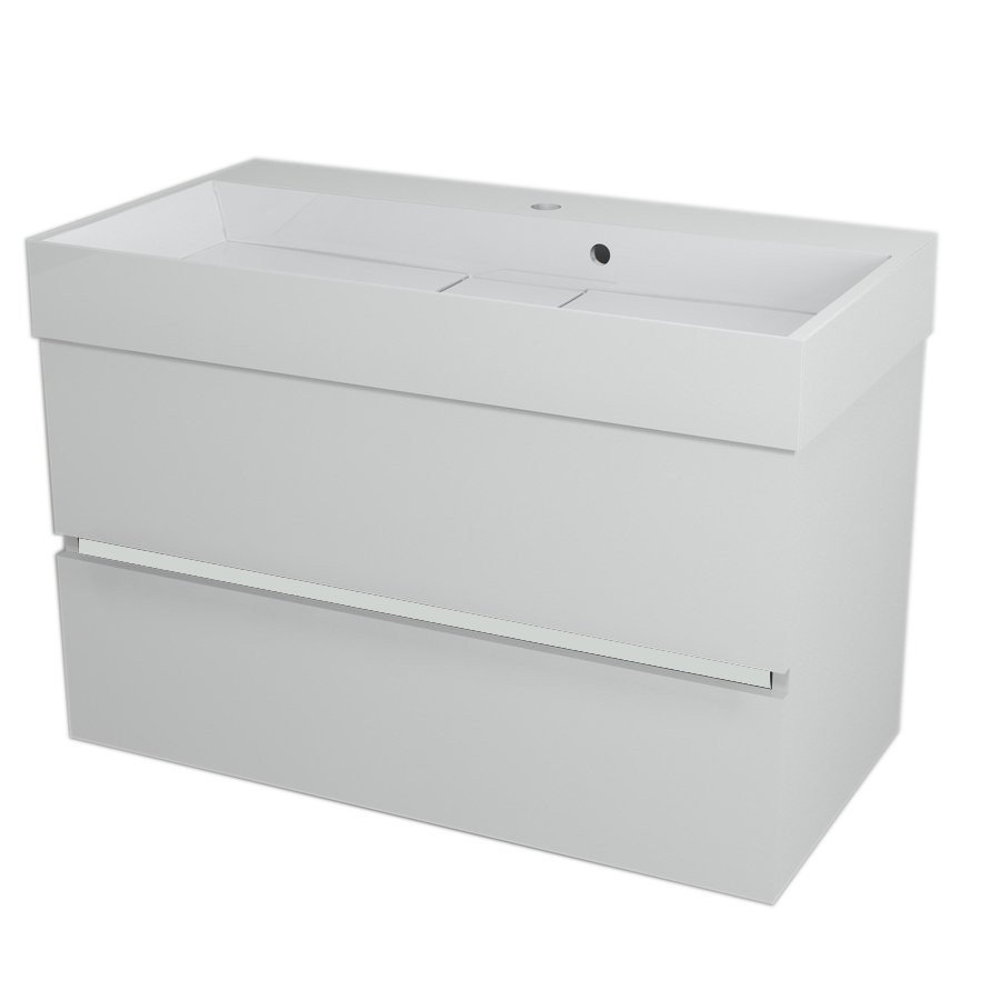 LARGO Basin Cabinet 89x50x45cm, white