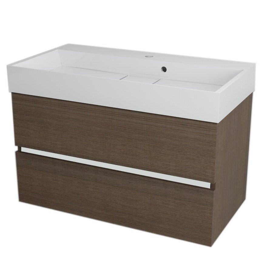 LARGO Basin Cabinet 89x50x45cm, Pine Rustic