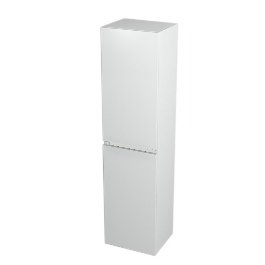 High Cabinet with Laundry Basket 35x140x30cm, left/right, White