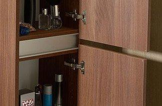 kõrge küljekapp Largo pesukorviga 35x140x30 cm vasak/parem, Pine Rustic